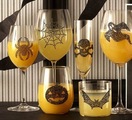decorazioni-di-halloween-sui-bicchieri