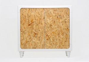 design Giulio PatrizI REALIZZA Eco-Storage UN MOBILE CONTENITORE prodotto in legno riciclabile, struttura in mdf parti restanti in OSB