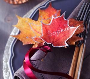 matrimonio segnoposto-foglie-autunno