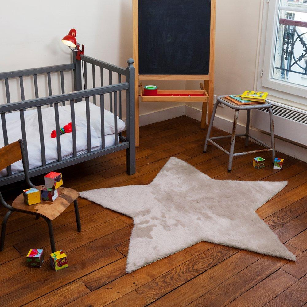 .amazon Pilepoil - Tappeto per bambini a forma di stella, in pelliccia sintetica