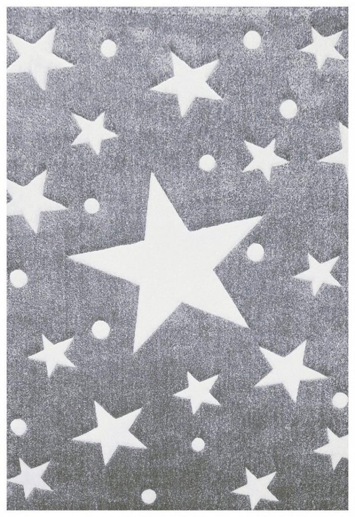 .amazon Tappeto per bambini Happy Rugs STELLA grigio bianco 120x180cm di livone