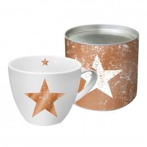 .amazon Tazza in porcellana motivo stella in confezione regalo colore bianco rame