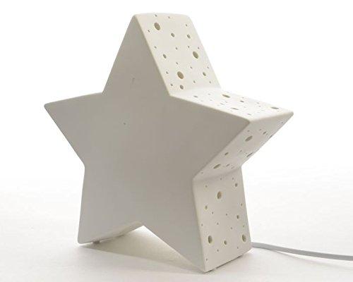 .amazon di tuttoverde lampada da tavolo a forma di stella in porcellana