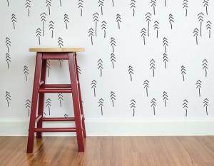 carta da p Pines n Tribes Scandinavian wall stencil di StenCilit su Etsy