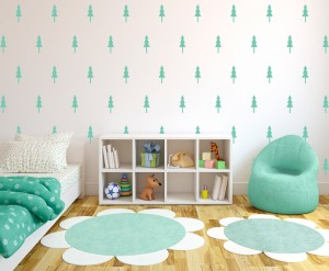 carta da p Simple Forrest Pine Tree Wall Pattern