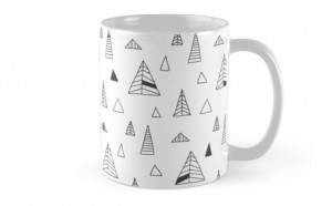 mug Winter Trees. redbubble 11.76