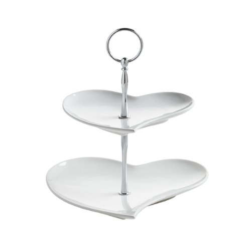 .amazon Maxwell & Williams JX57915 - Etagere Amore con 2 ripiani a forma di cuore