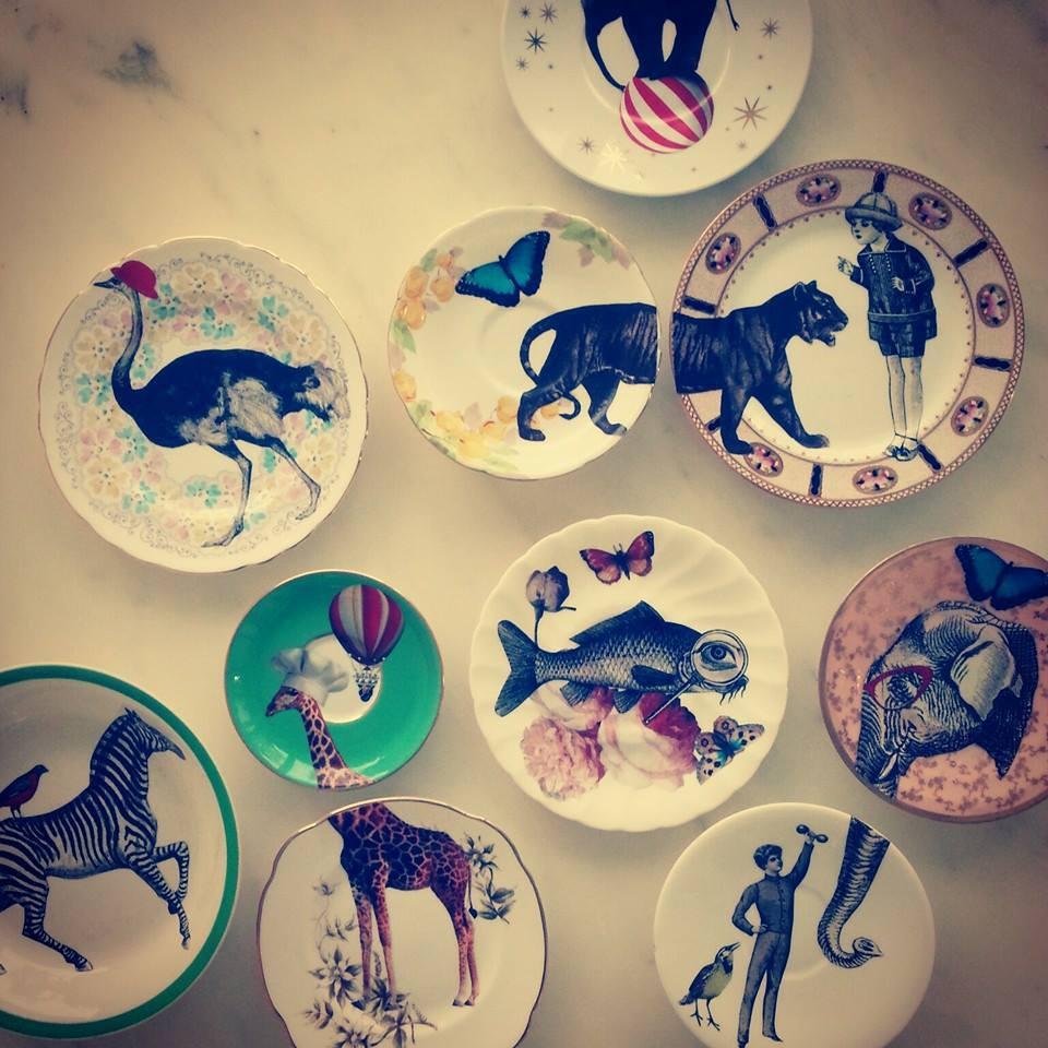 design ziameim piatti decorati a mano da sara giordano