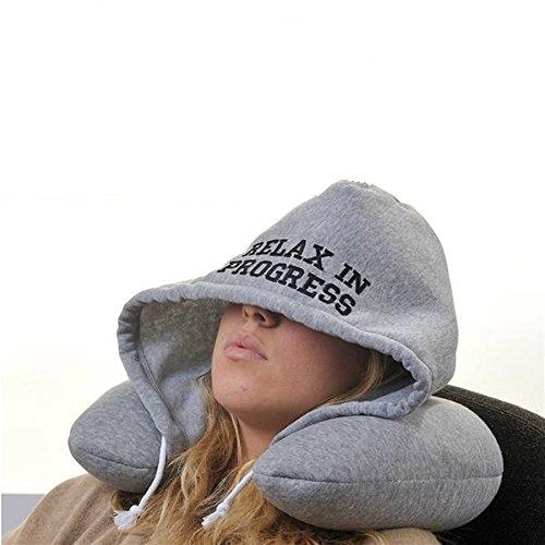 funny molto divertente il cuscino collare con cappuccio relax in progress