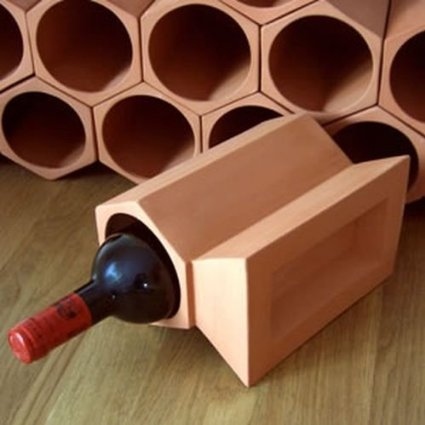 home .amazon di Cranville wine racks portabottiglie in cotto componibile 12 a confezione