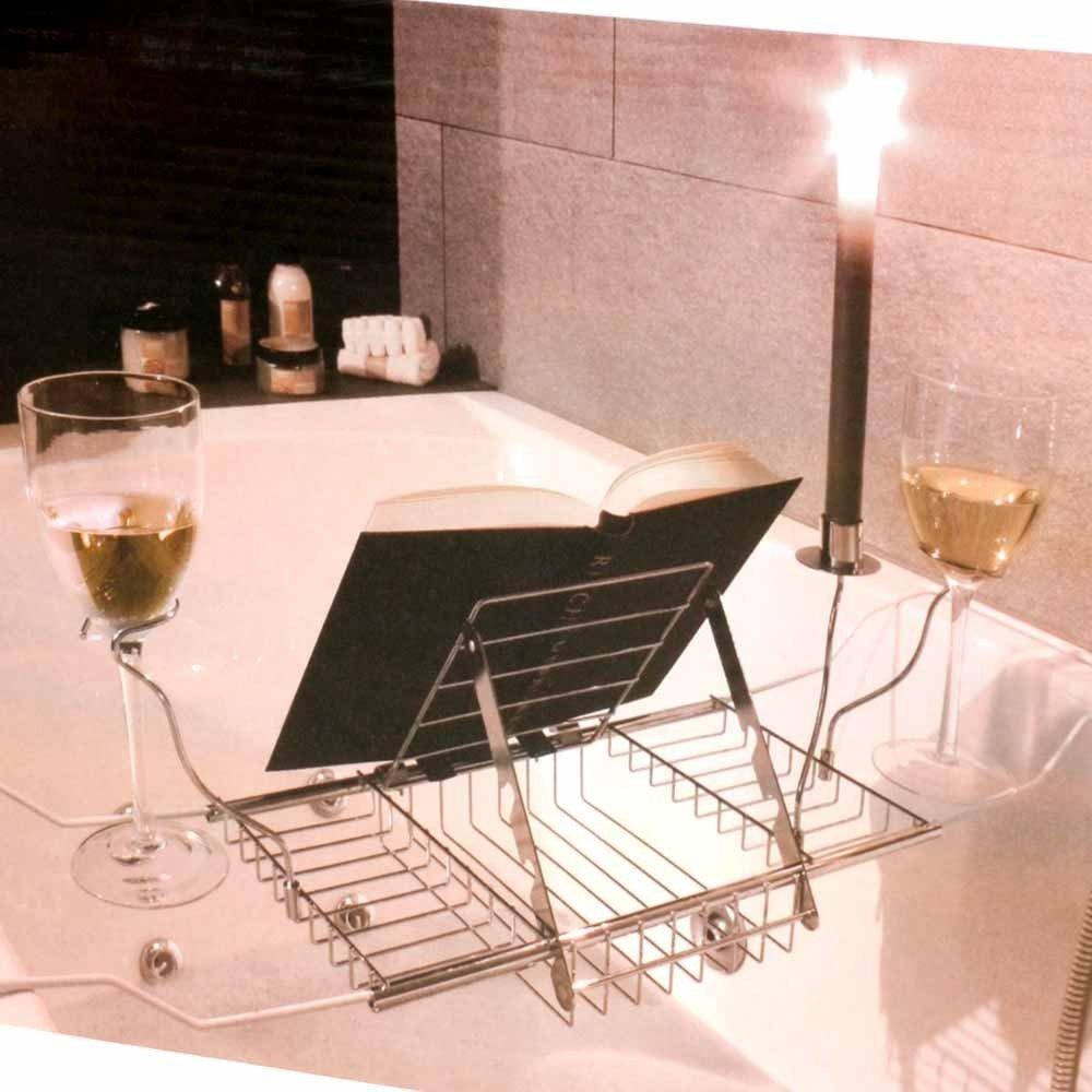 relax .amazon Zeitzone - Leggio-vassoio per vasca da bagno 23.00