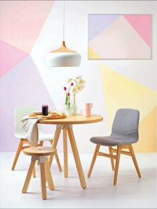 3 originale geometrica vari colori tenui