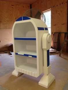 R2D2 droid styled bookshelf