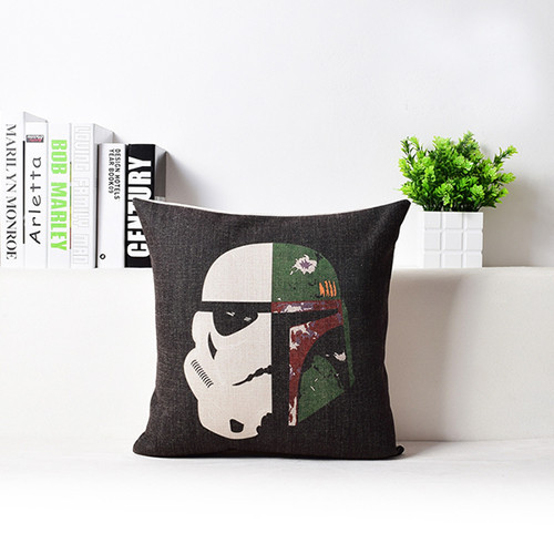 Stormtrooper vs Boba Fett pillow by hippy