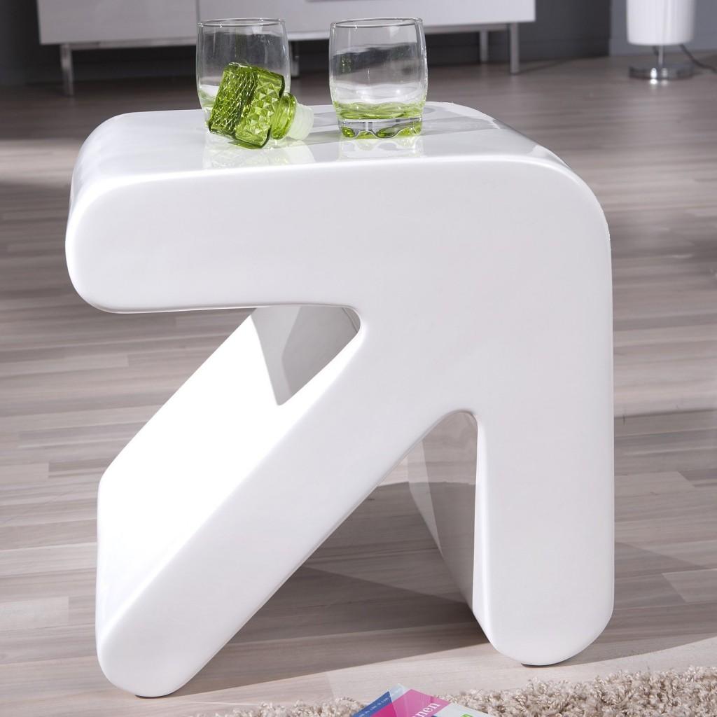 .amazon Links, Tavolino d'appoggio Hood, Bianco