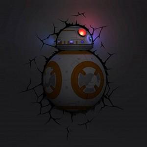 .amazon Star Wars - Lampada da parete, 3D, a forma di Bb-82