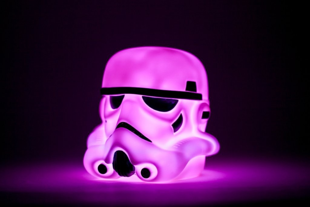 .amazon Star Wars Stormtrooper-Luce a LED che cambia colore, luce a LED