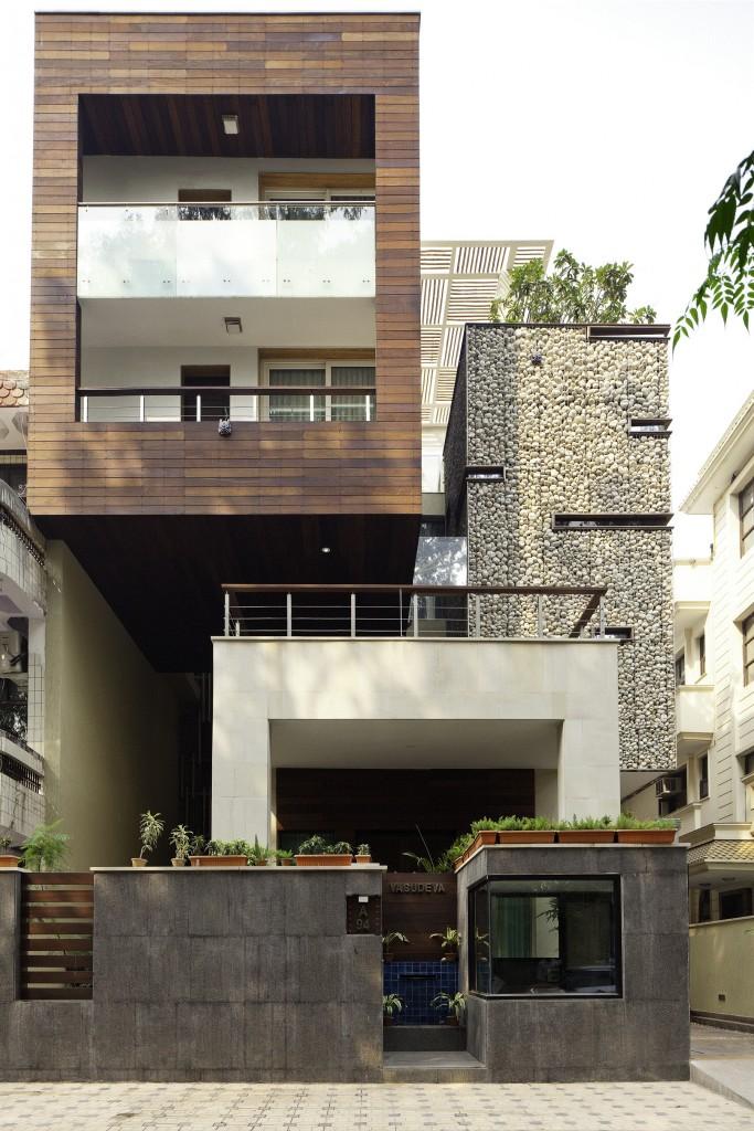 arch Anagram Architects Delhi progettato questa residenza per due fratelli e le loro famiglie 2