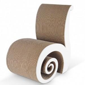 chiocciola sedia-in-cartone-modello-chiocciola-con-pannello-laterale-in-mdf di kasa store