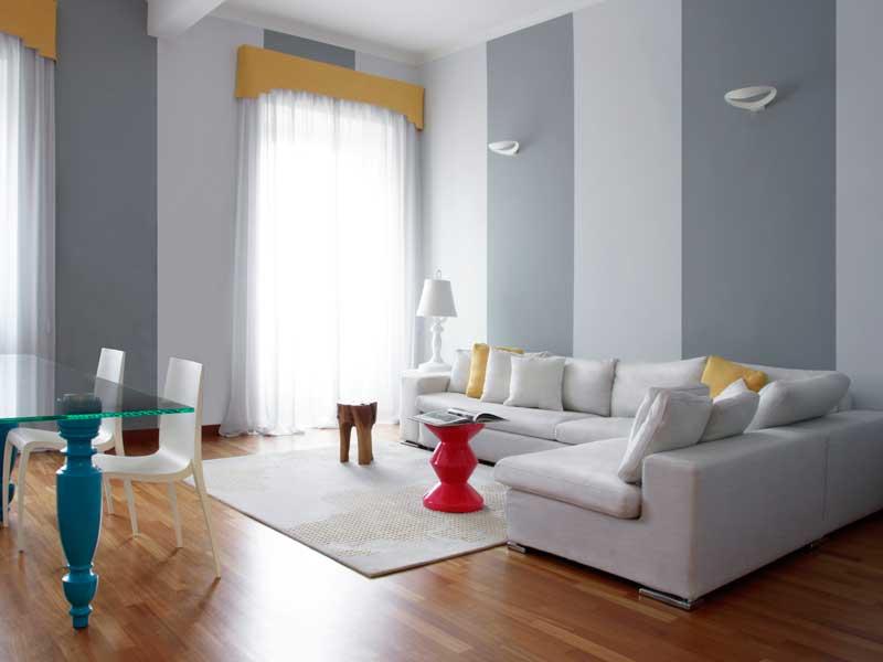 Eccellente pittura pareti a righe tw98 pineglen for Pareti colorate immagini