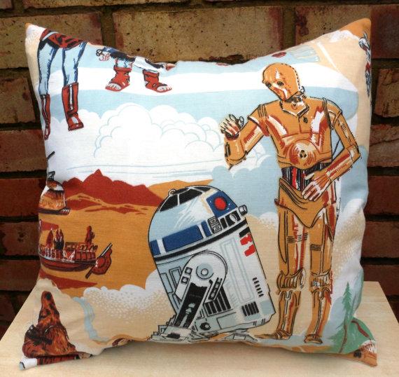 star wars R2D2 e C3PO 20.09€ cuscino etsy