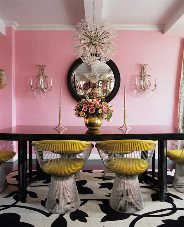 Dining-Room-With-Pink-Yellow-Interior-Decor-Accents