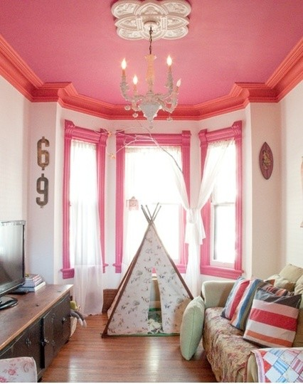 Pink-Painted-Ceiling