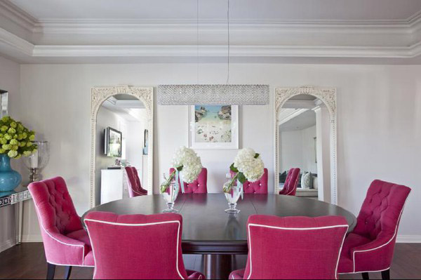 Pink-dining-chairs