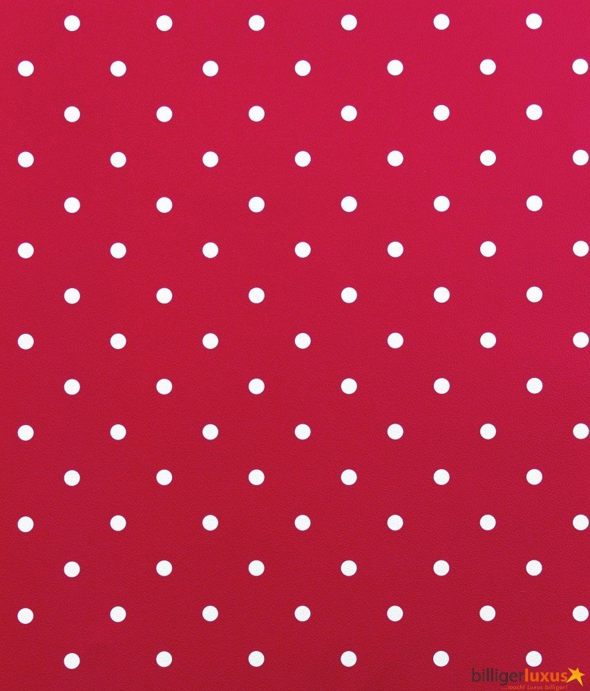 .amazon Carta da parati per bimbi Kids' Club 2014 con pois, colore Rosso