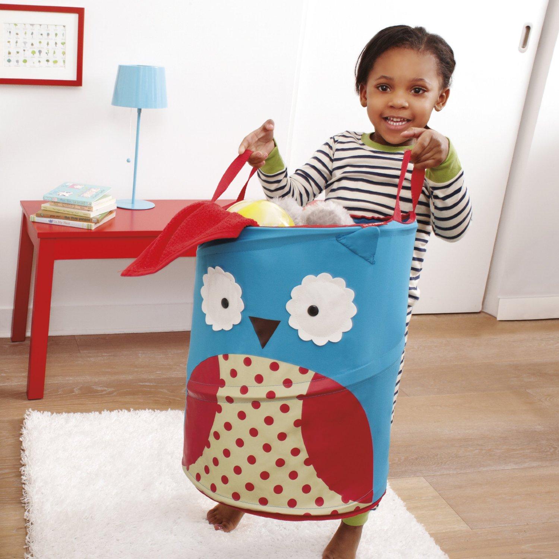 .amazon cesto portagiochi Skip Hop 294104 Contenitore per giocattoli, Zoo Hamper Gufo