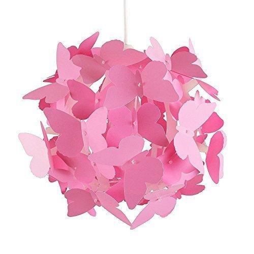 .amazon lampada rosa di minisun con farfalle