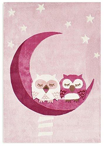 .amazon tappeto rosa di livone Tappeto per bambini Happy Rugs CIVETTA ADDORMENTATO