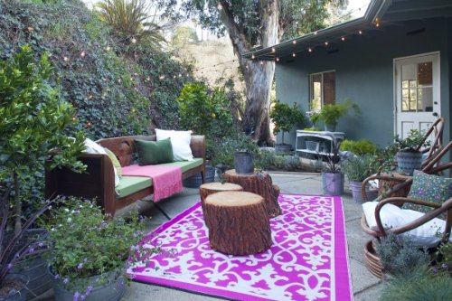 .amazon tappeto rosa venezia di Fab Habitat