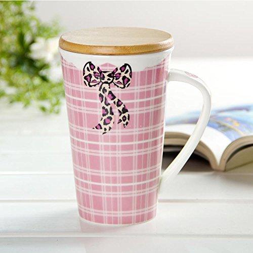 .amazon tazza rosa con coperchio in legno e confezione regalo vari colori