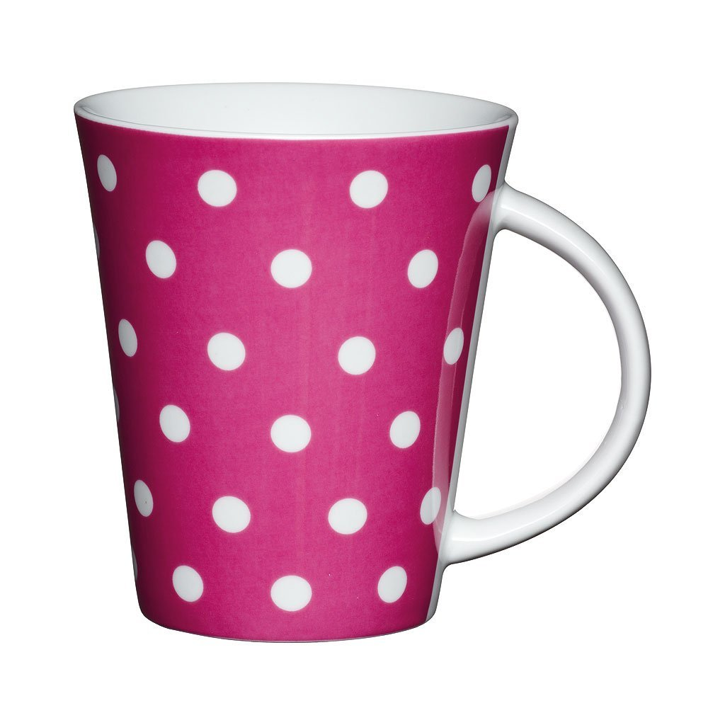 .amazon tazza rosa di Kitchen Craft - Tazza a pallini, porcellana, rosa e bianco