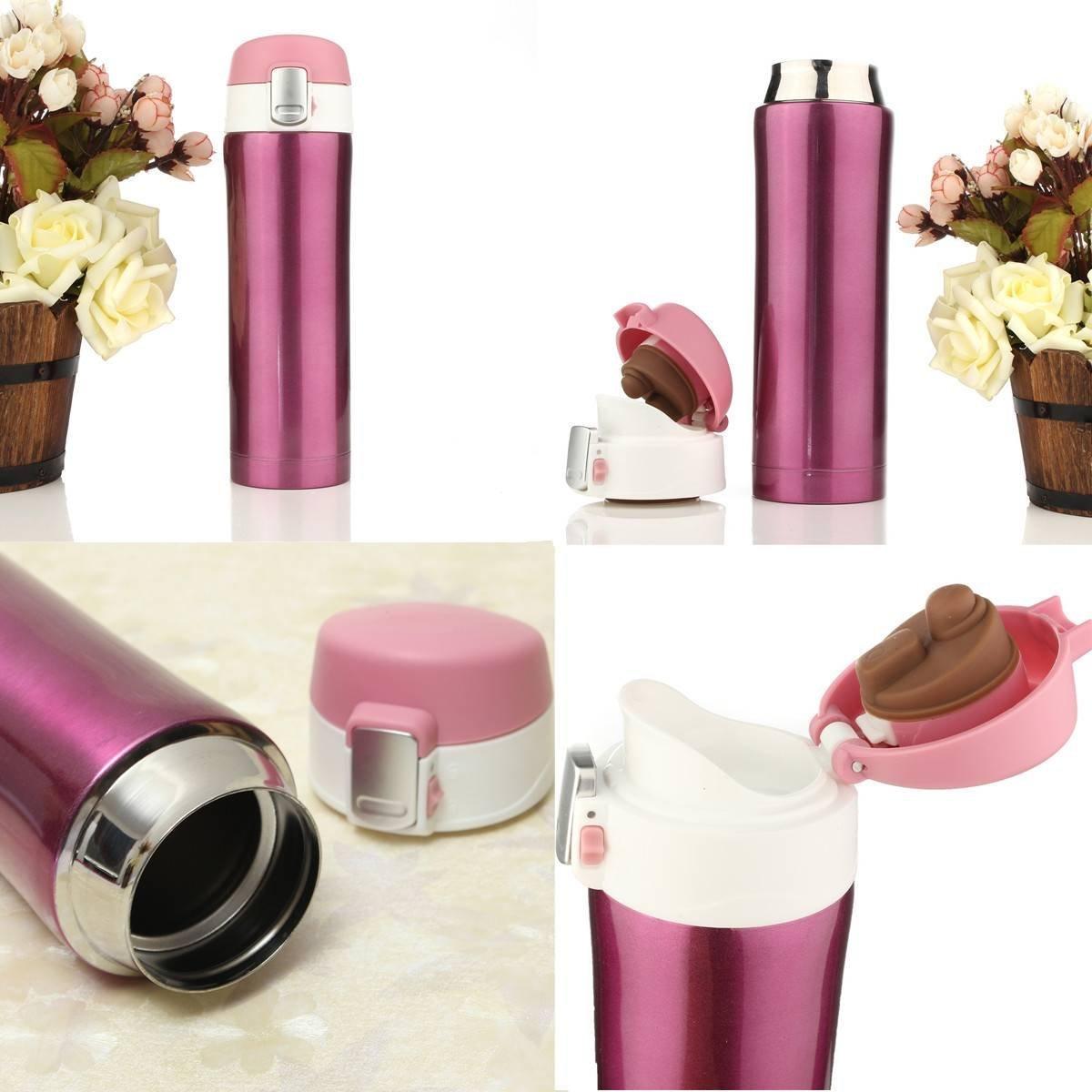 .amazon tazza rosa in acciaio inossidabile Thermos vari colori