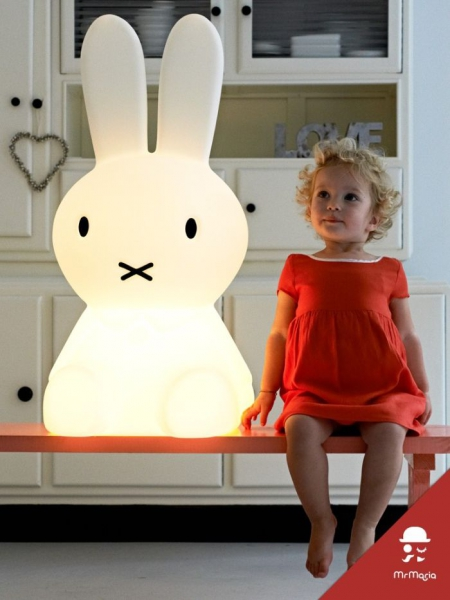 Il coniglio Miffy, una lampada firmata Dick Bruna