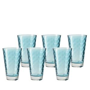.amazon Leonardo 014776 Set 6 bicchieri acqua Bicchieri grande Optic, lavabile in lavastoviglie, azzurro blu