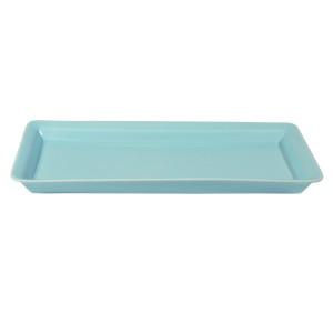 .amazon di Authentics, Vassoio, Rettangolare, Porcellana, Azzurro, 34 x 15 cm