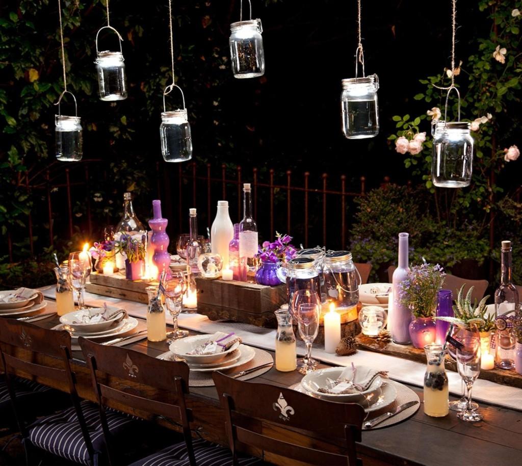 .amazon di Sonnenglas.net - Lampada solare in barattolo da conserva, con gancio di chiusura e 4 lampadine LED