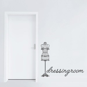 .amazon di adesiviamo Dressingroom Manichino Shabby Chic Wall Sticker Adesivo da Muro