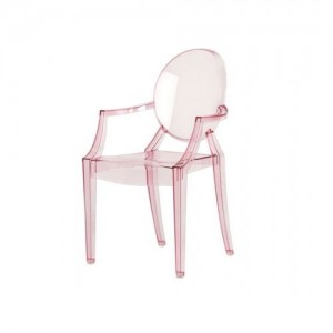 .amazon kartell sedia Lou Lou Ghost rosa versione baby