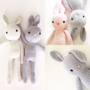 bunny crochet diLittlePinkCanary su etzy per nursery