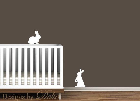 coniglietti wall decal di designsbydelia09 su etzy
