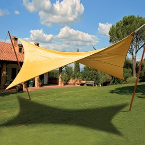 copertura Tenda ombreggiante vela quadrata ecrù verde copertura sole ombra giardino lionshome