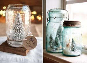 natale Barattoli-di-vetro-con-neve-decorazioni-di-Natale-fai-da-te