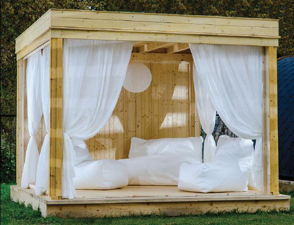 relax gazebo in legno da giardino