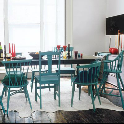 stesso colore forma diversa Mix-And-Match-Furniture-Dining-Room-Ideas-6