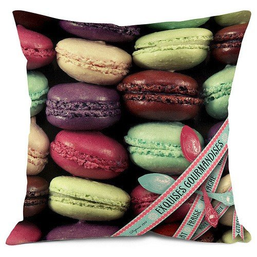 .amazon BMC - COUSSIN DESIGN MACARONS EXQUISE 50 x 50