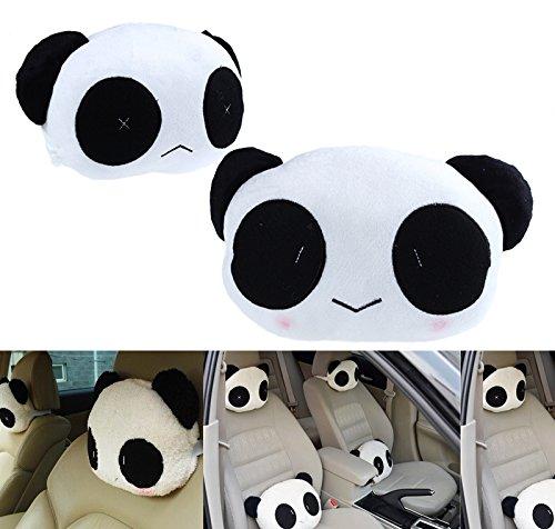 .amazon Cuscino per poggiatesta da auto, motivo Panda, 2 pezzi